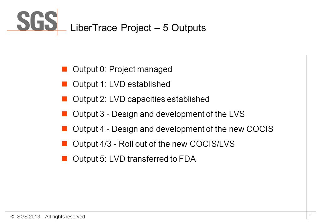 LiberTrace Project – 5 Outputs