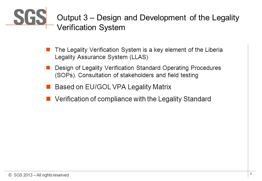 Output 3 – Design and Development of the Legality Verification System