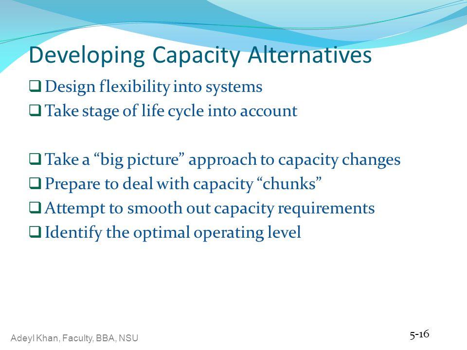 Developing Capacity Alternatives