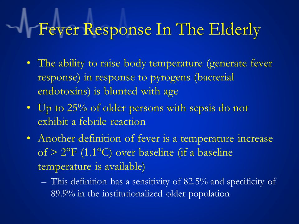 Fever Response In The Elderly
