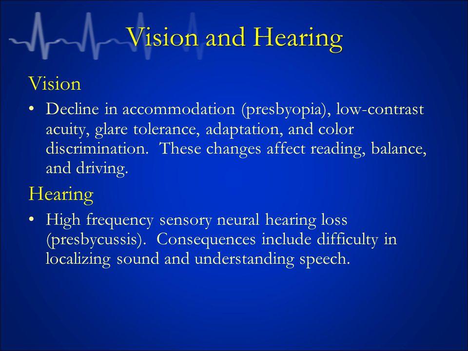 Vision and Hearing Vision Hearing
