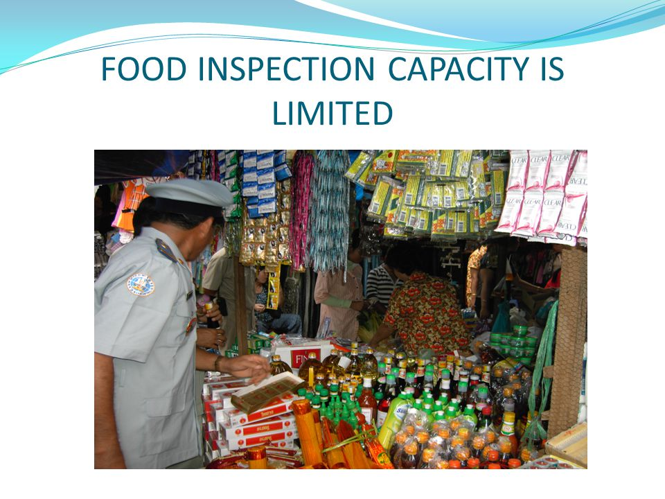 FOOD INSPECTION CAPACITY IS LIMITED