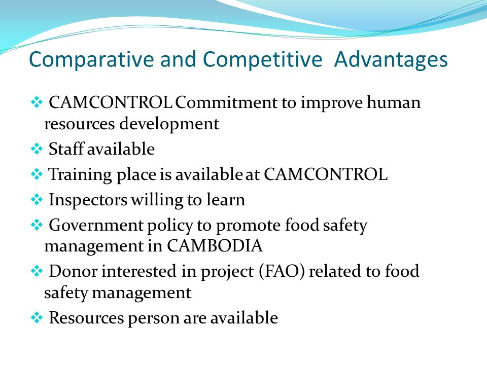Comparative and Competitive Advantages