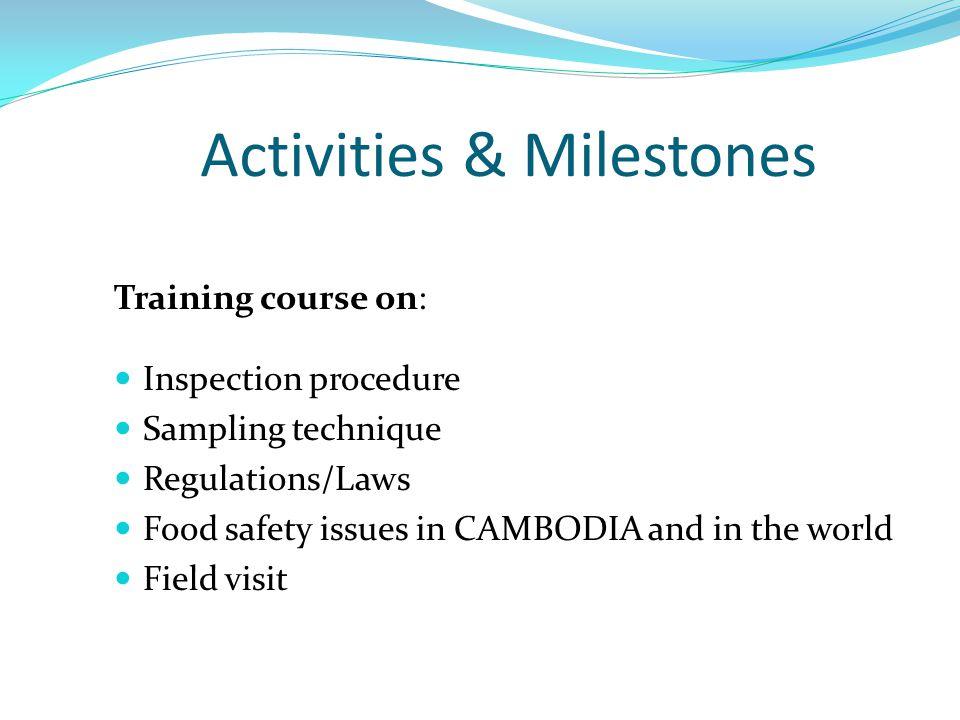 Activities & Milestones