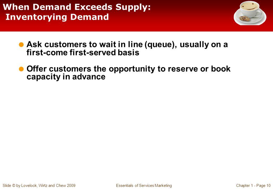 When Demand Exceeds Supply: Inventorying Demand