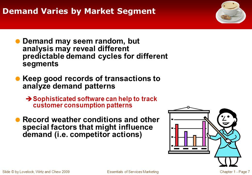 Demand Varies by Market Segment