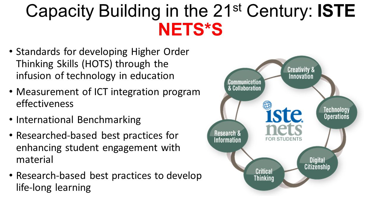 Capacity Building in the 21st Century: ISTE NETS*S