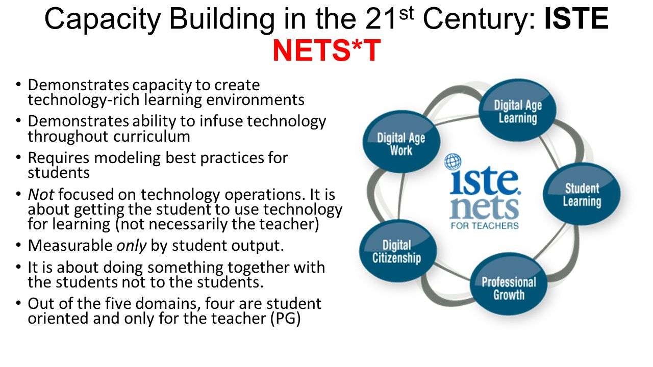 Capacity Building in the 21st Century: ISTE NETS*T