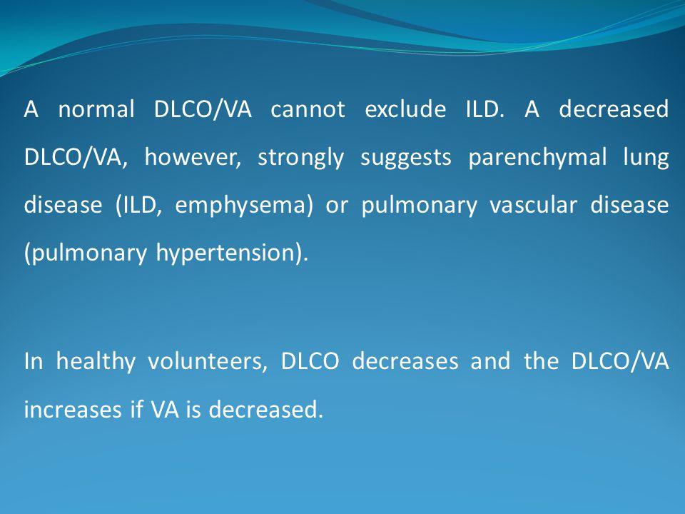 A normal DLCO/VA cannot exclude ILD