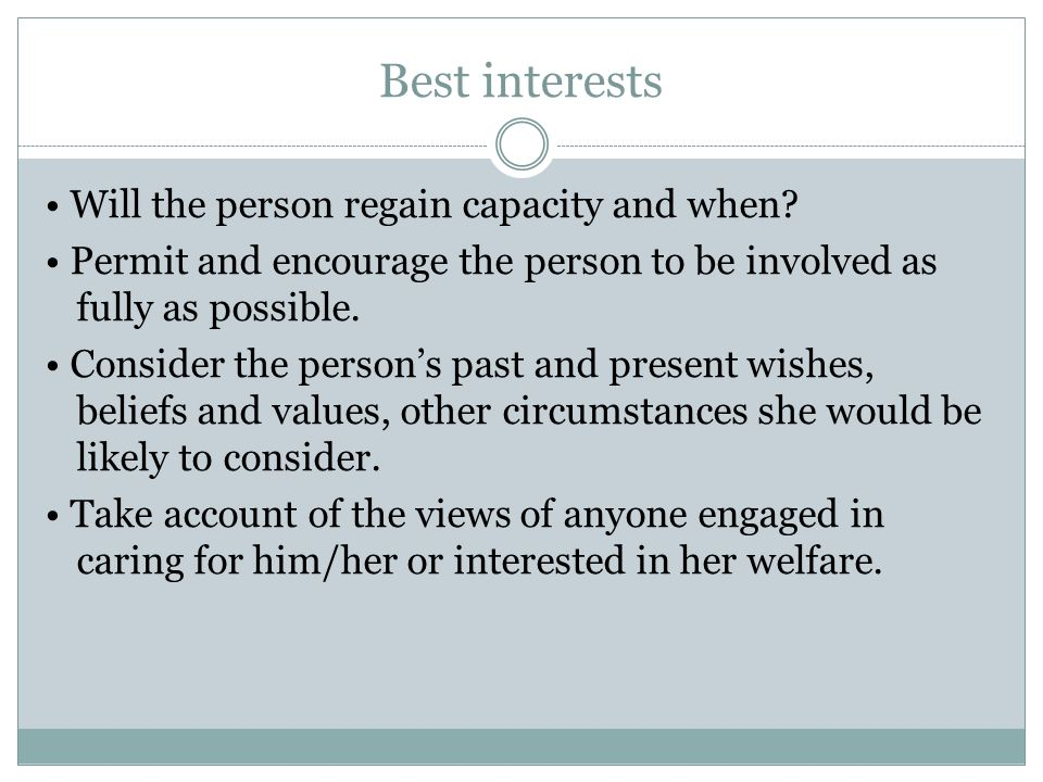 Best interests