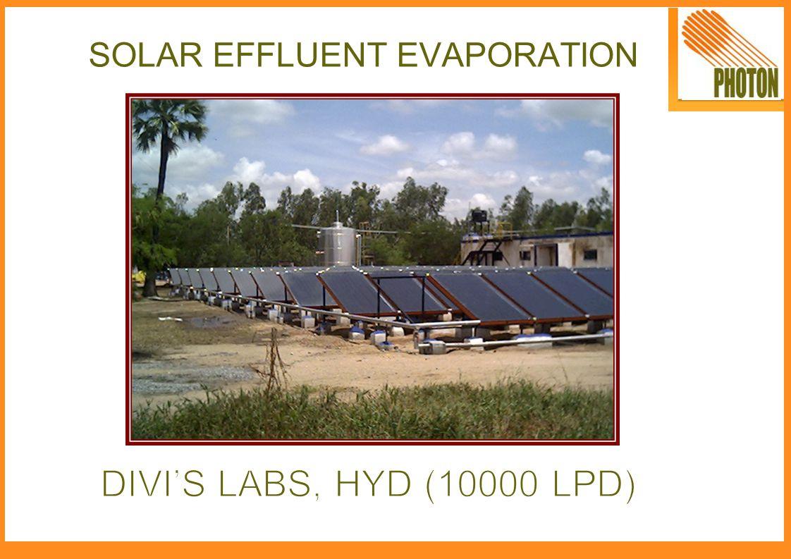 SOLAR EFFLUENT EVAPORATION