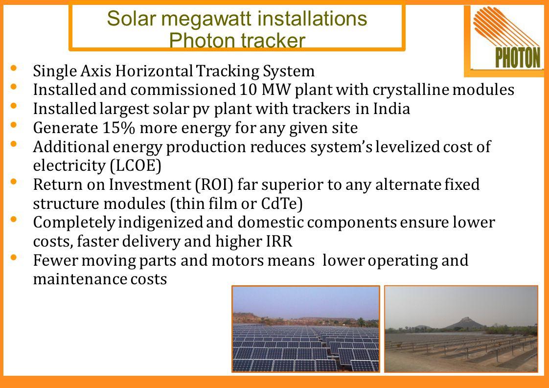 Solar megawatt installations