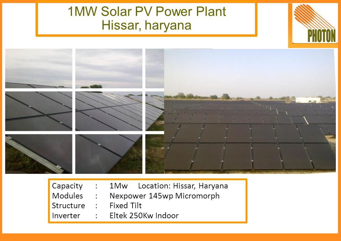 1MW Solar PV Power Plant Hissar, haryana