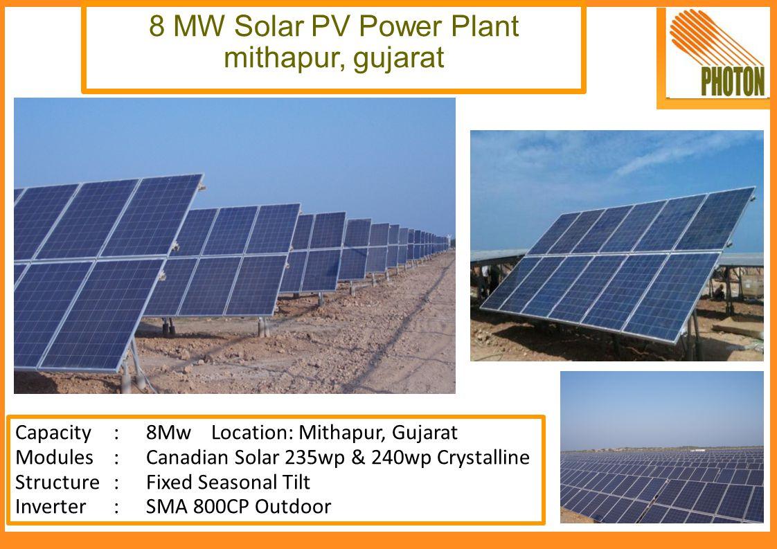8 MW Solar PV Power Plant mithapur, gujarat