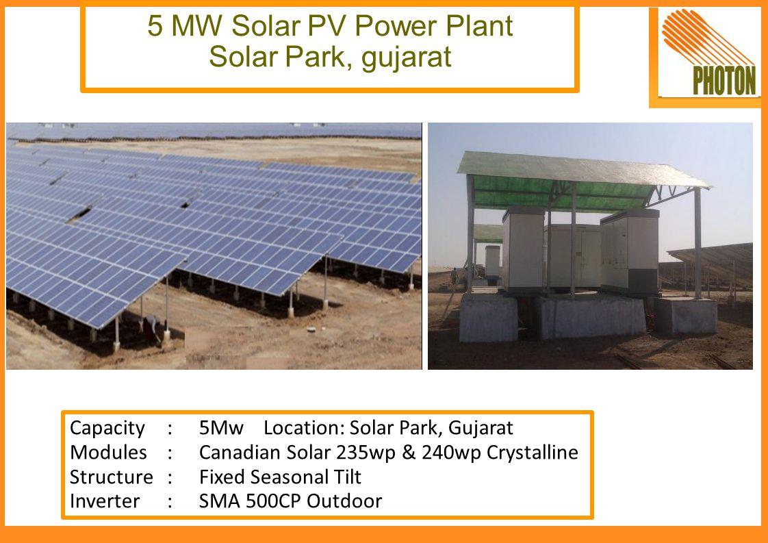 5 MW Solar PV Power Plant Solar Park, gujarat