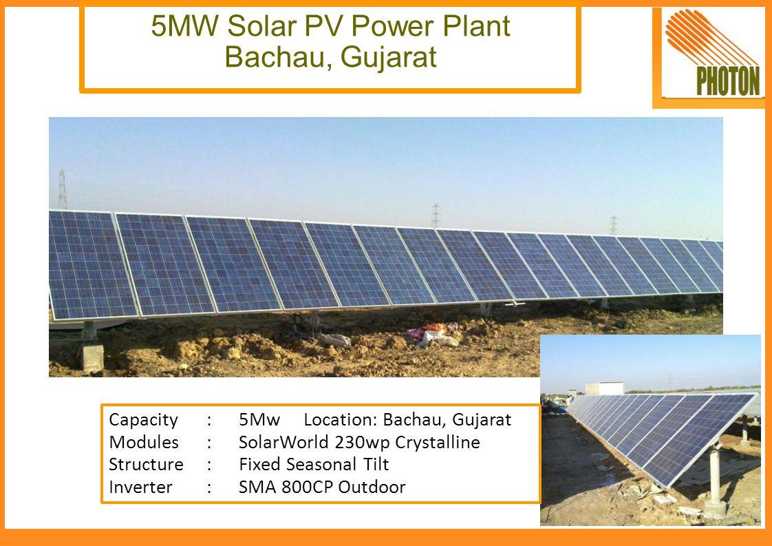 5MW Solar PV Power Plant Bachau, Gujarat