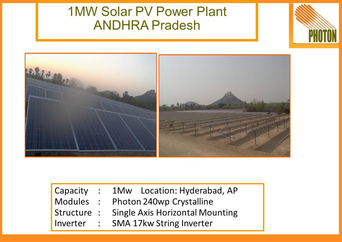 1MW Solar PV Power Plant ANDHRA Pradesh
