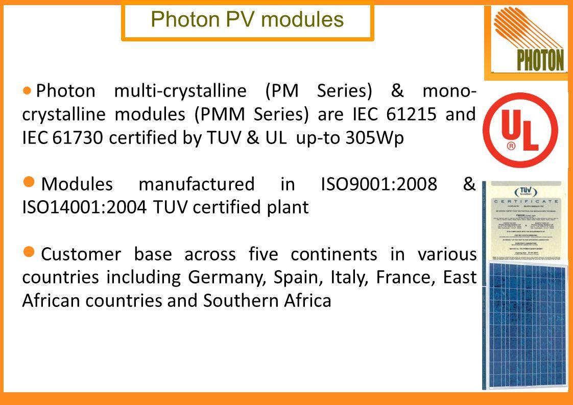 Photon PV modules