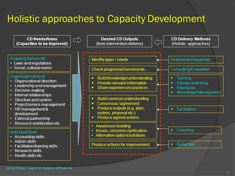 Holistic approaches to Capacity Development
