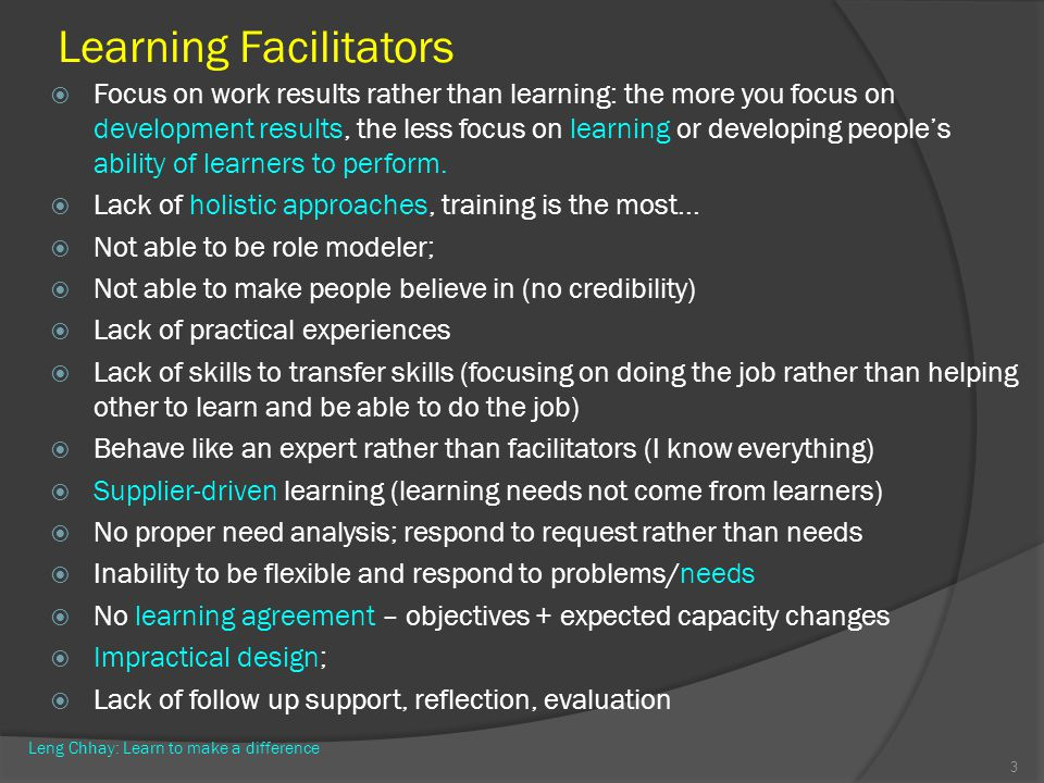 Learning Facilitators