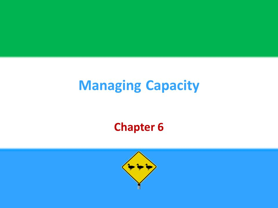 Managing Capacity Chapter 6