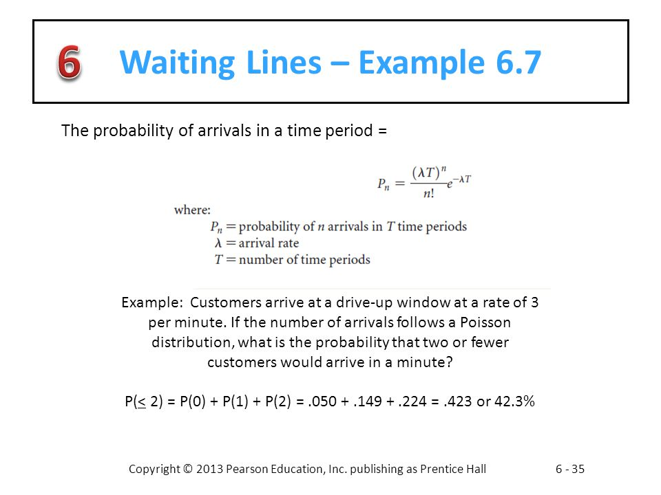 Waiting Lines – Example 6.7