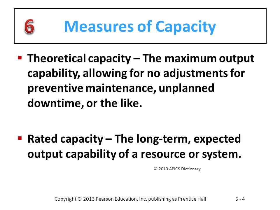 Measures of Capacity
