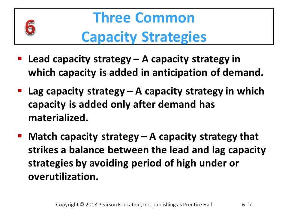 Three Common Capacity Strategies