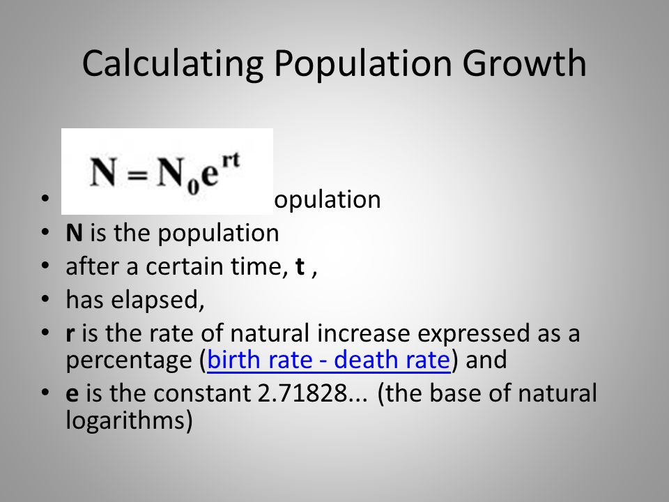 Calculating Population Growth