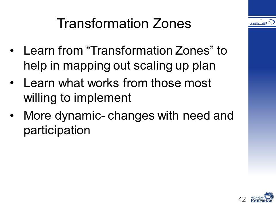 Transformation Zones Transformation Zones