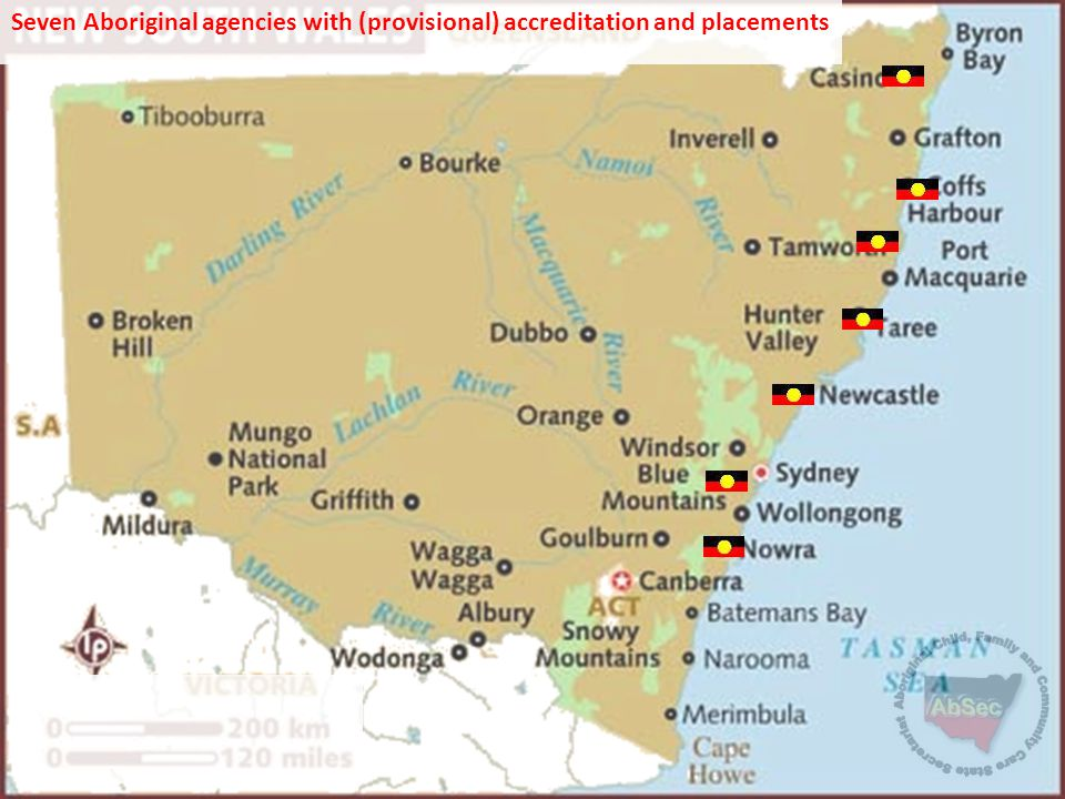Seven Aboriginal agencies with (provisional) accreditation and placements