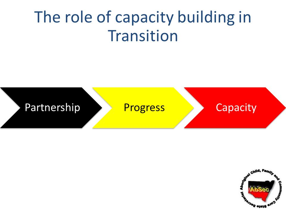 The role of capacity building in Transition
