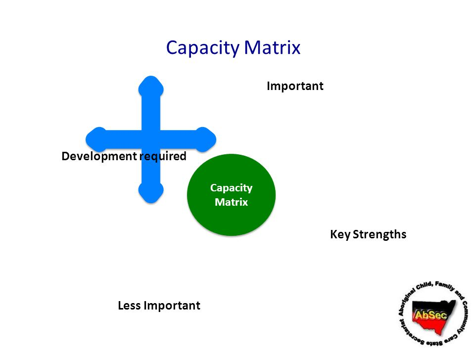 Capacity Matrix Important Development required Key Strengths