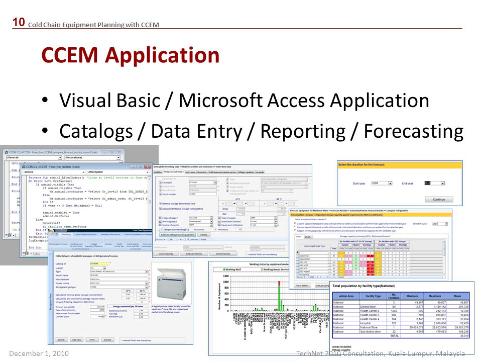 CCEM Application Visual Basic / Microsoft Access Application