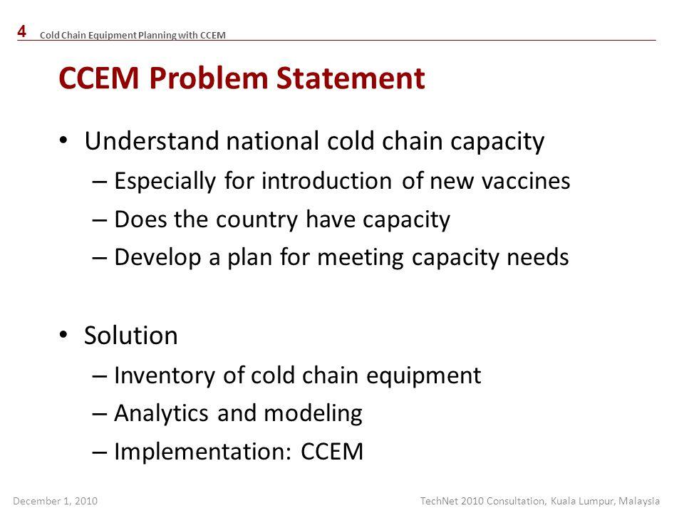 CCEM Problem Statement