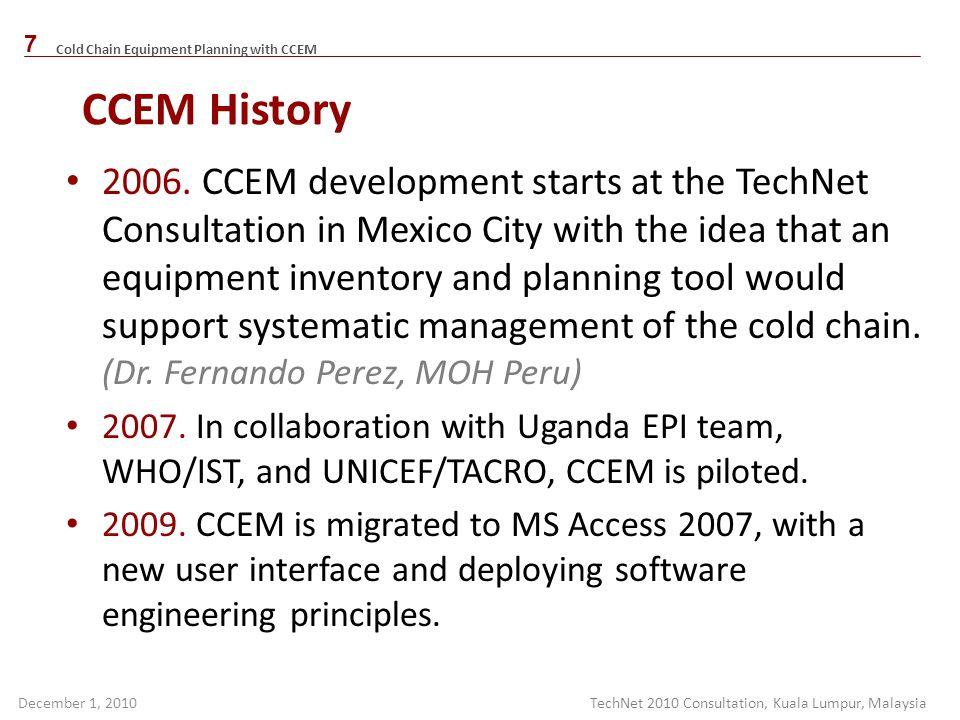 CCEM History