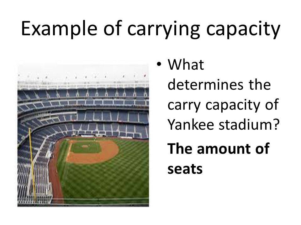 Example of carrying capacity