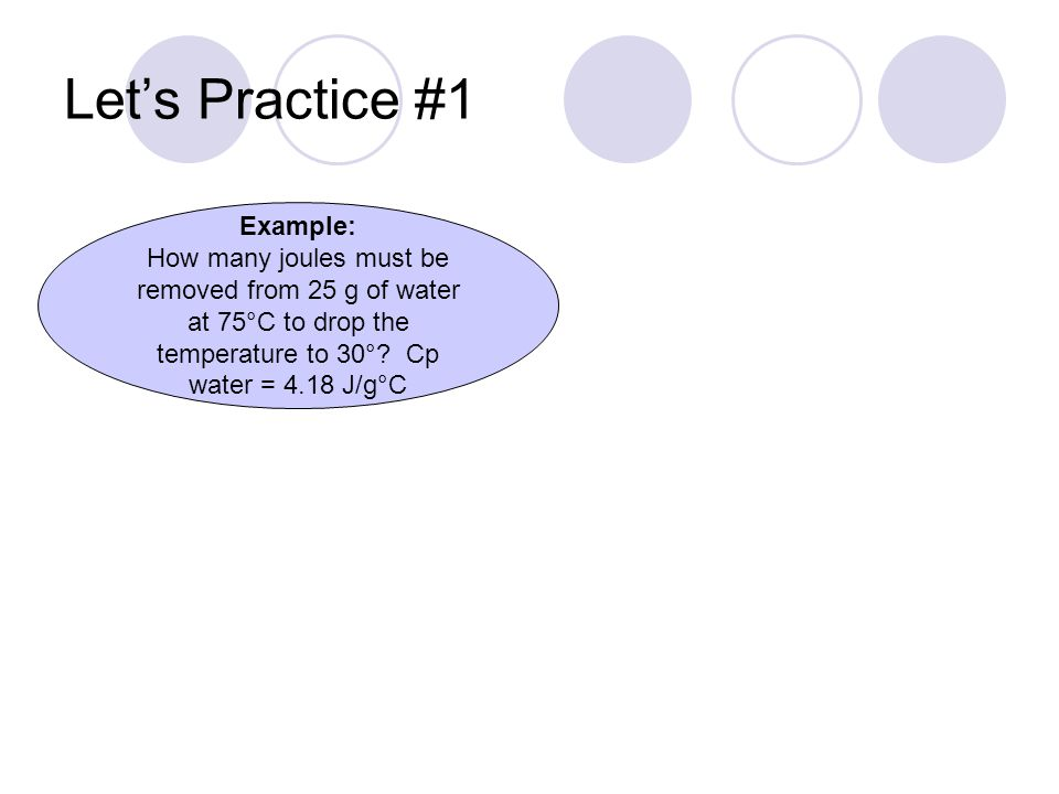 Let's Practice #1 Example: