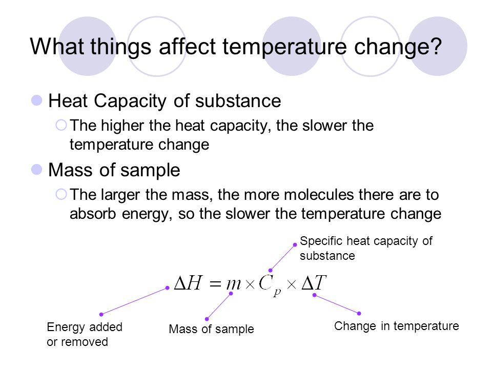 What things affect temperature change