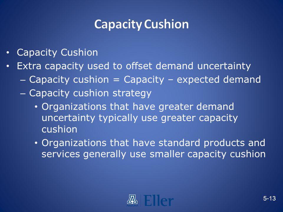 Capacity Cushion Capacity Cushion