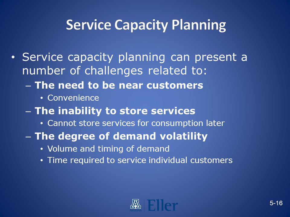 Service Capacity Planning