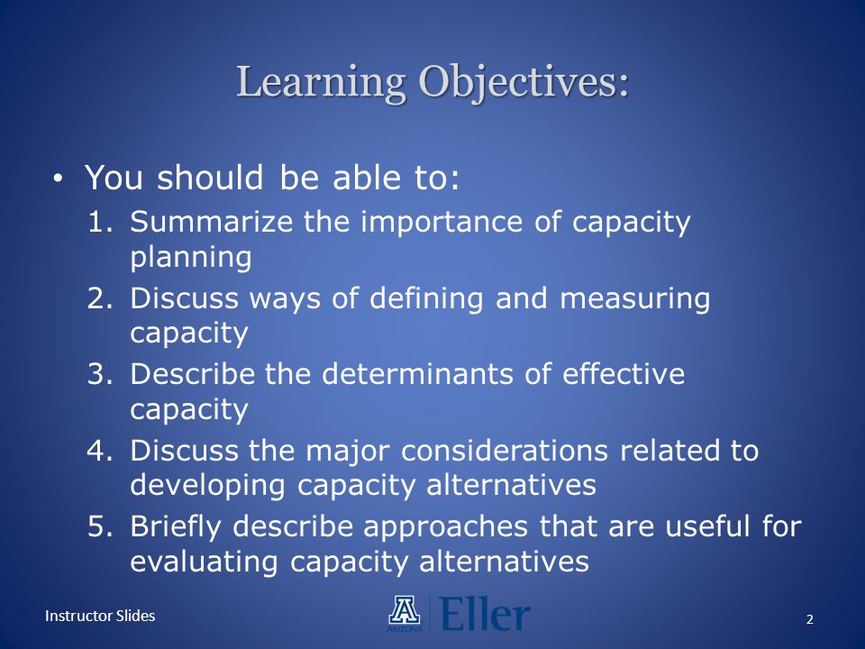 Learning Objectives: You should be able to: