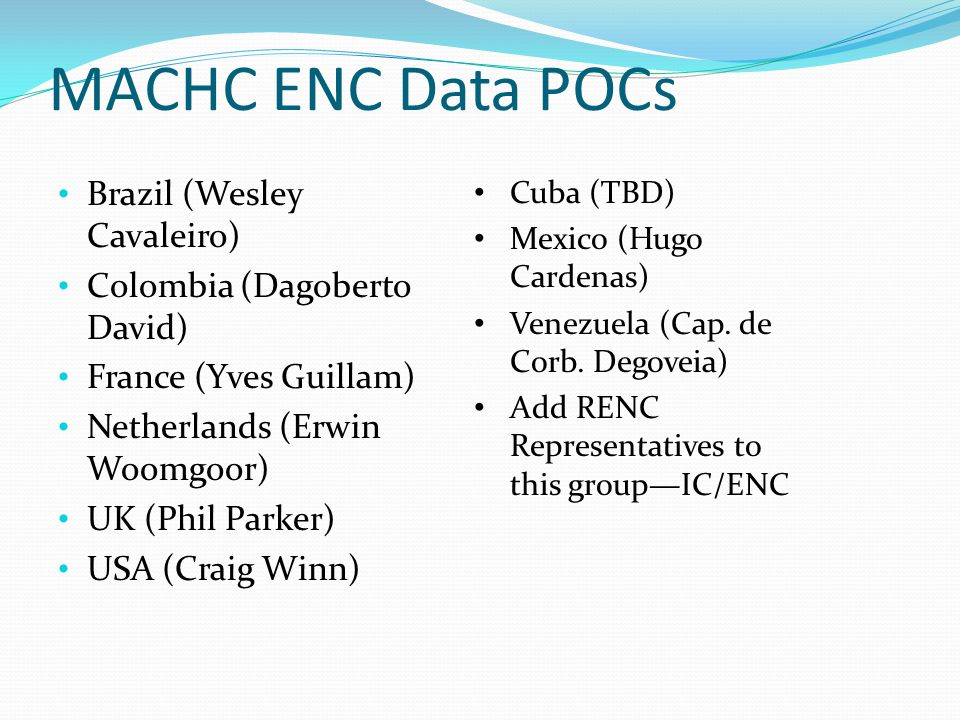 MACHC ENC Data POCs Brazil (Wesley Cavaleiro)