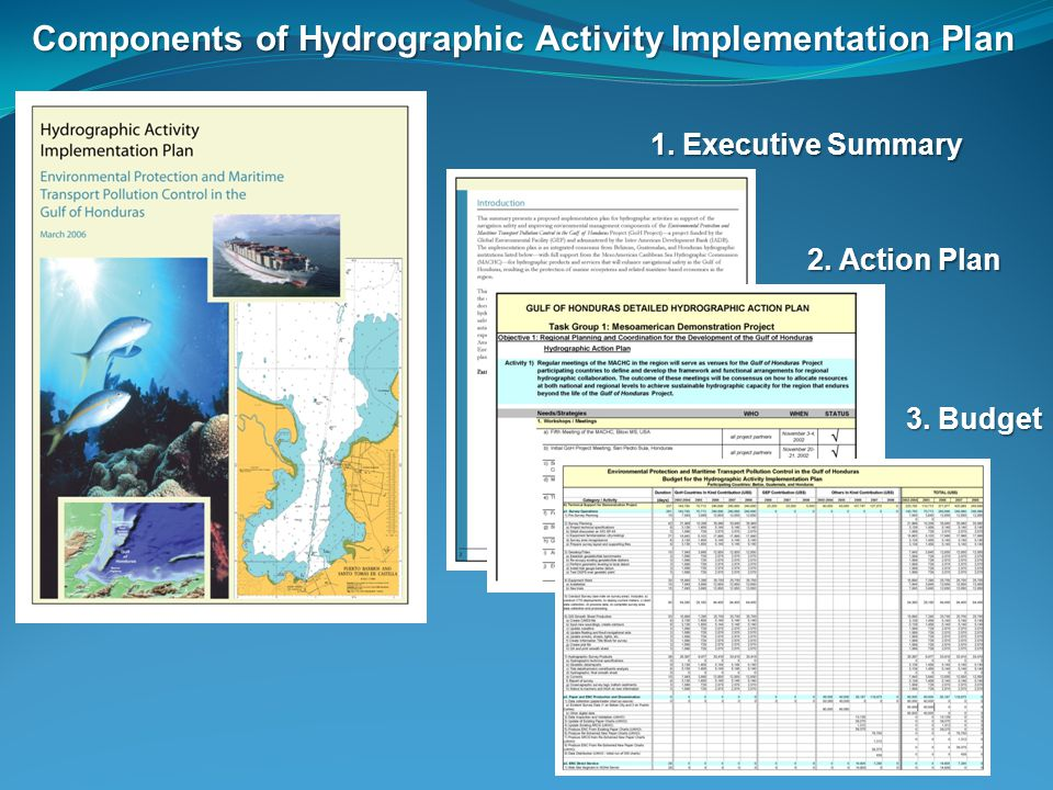 Components of Hydrographic Activity Implementation Plan