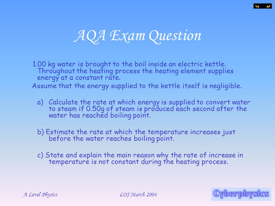 AQA Exam Question