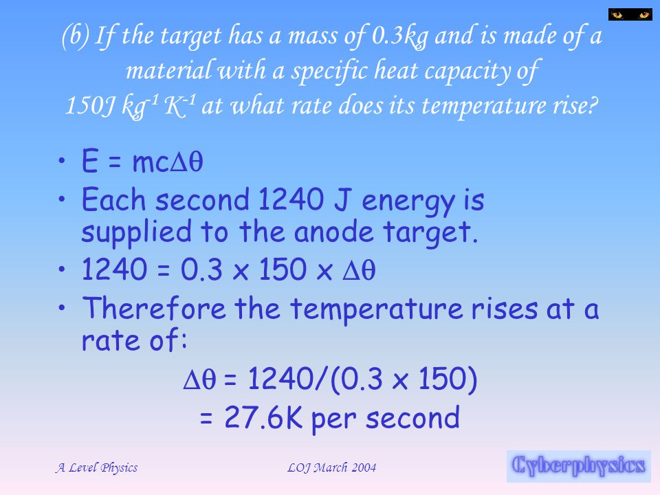 (b) If the target has a mass of 0