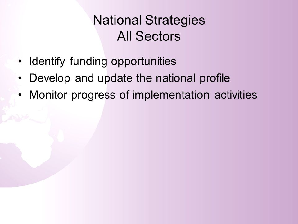 National Strategies All Sectors