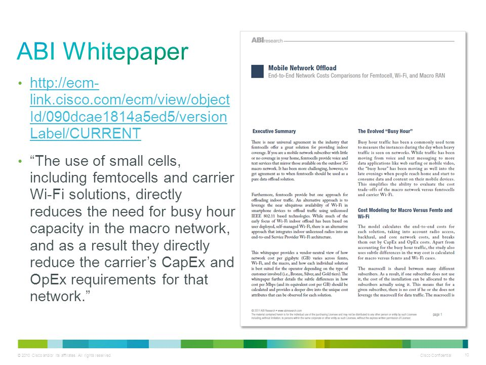 ABI Whitepaper http://ecm- link.cisco.com/ecm/view/object Id/090dcae1814a5ed5/version Label/CURRENT.