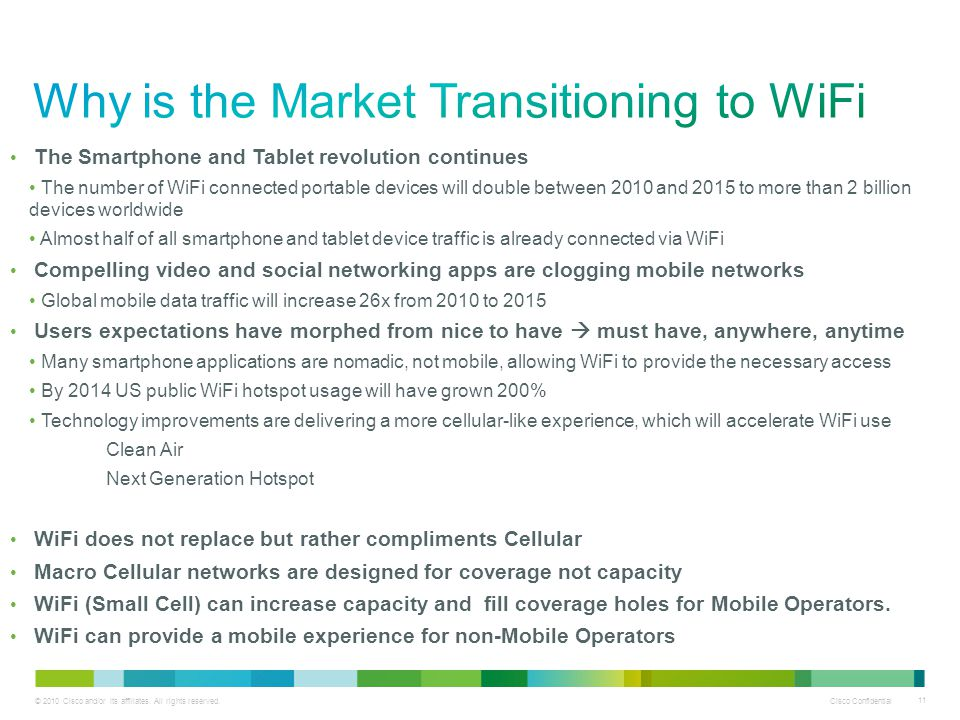 Why is the Market Transitioning to WiFi
