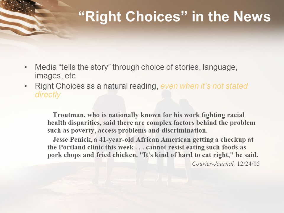 Right Choices in the News